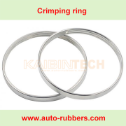Mercedes W211 rear Air Suspension repair Kits Metal clamping o Ring A2113200725 A2113200825 clamps ring for Rubber Sleeve Bladder rubber Pillows Air Suspension Strut Repair Kits 1663206713 1663207113