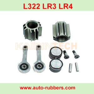 Air Compressor Pump Repair Kits Cylinder head connecting rod bearing bolt and other accessories For Range Rover Sport & Vogue L322 LR3 LR4