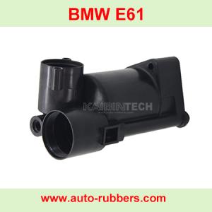 BMW E61 ремонт компрессора пневмоподвески новый пластиковый ствол