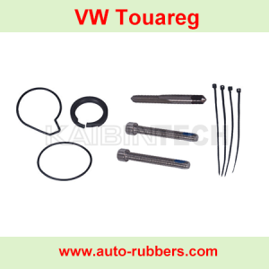 Volkswagen VW Touareg airmatic compressor pump Repair kits seal ring cylinder head screw bolts ptpe seal rings piston rings rubber o ring