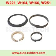 W221 W164 W166 W251 W220 AMK Air Suspension Compressor repair kits seal ring cylinder piston rod ring ptpe seal rings piston rings 4 pieces set for automobile