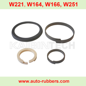 W221 W164 W166 W251 W220 AMK Air Suspension Compressor repair kits seal ring cylinder piston rod ring ptpe seal rings piston rings 4 pieces set for automobile