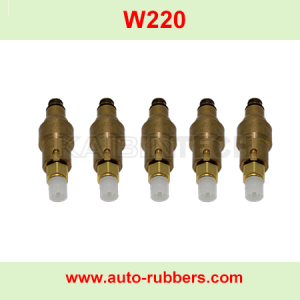 copper air valve for Mercedes Benz W220 air suspension shock absorber repair