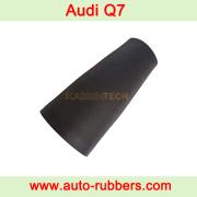 Замена пневмобаллона Audi Q7, Инструкция по замене переднего пневмобаллона Audi Q7 VW Touareg Porsche Cayene, замена пневмобаллона Audi Q7 пневмобаллона рукава(резиновый рукав)