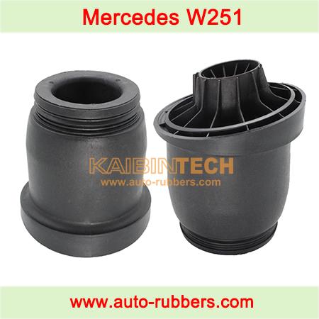 Air-suspension-shock-repair-kits-for-rear-left-right-plastic-part-plastic-piston-for-Mercedes-W251-R350-R500