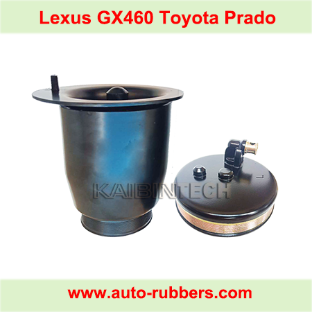 Air-Suspension-Bag-Metal Piston and Cover for Rear-left-and-right-Pair-For-Lexus-GX460-TOYOTA-PRADO-2010-2013-Air-Spring-OEM-48080-60010,48090-60010