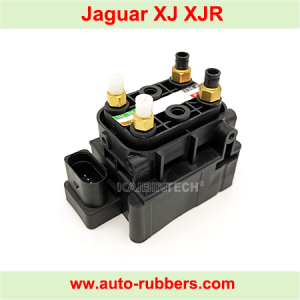 Solenoid Valve Block for Jaguar XJ XJR Air Suspension Compressor