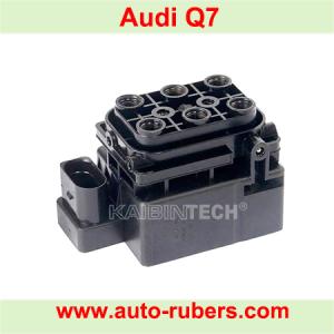 Air Suspension control valve block For Audi Q7 VW Touareg Porsche Cayenne Air compressor.