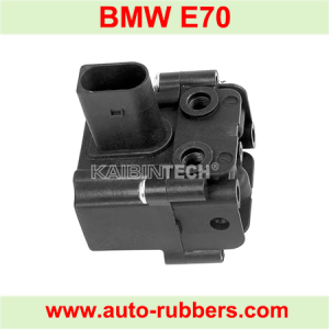 Solenoid Valve Block for BMW X5 E70 X6 E71 E72 Air Suspension