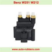 Solenoid Valve Block for W251 E-Class W212 S212 AirMATIC Suspension Compressor.