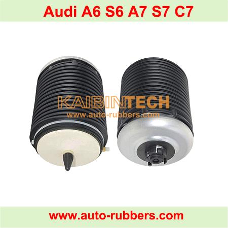 Audi-A6-S6-A7-S7-C7-Left&Right-Rear-Air-Suspension-Spring-Struts-Bag-4G0616001R-