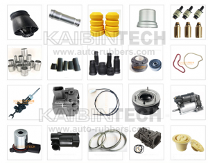 Air Suspension Repair Kits rubber bladder clamps buffer damper aluminum cover copper air valve fitting dust cover boot strut mount seal rings shock core top head induction cable suspension air pump service parts head cover plastic parts valve blocks
